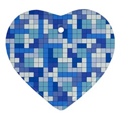 Tetris Camouflage Marine Ornament (heart) by jumpercat