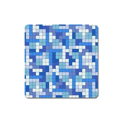 Tetris Camouflage Marine Square Magnet by jumpercat