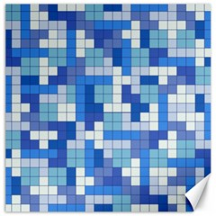 Tetris Camouflage Marine Canvas 16  X 16   by jumpercat