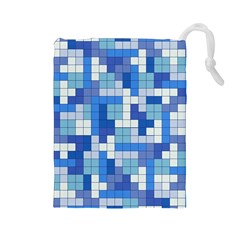 Tetris Camouflage Marine Drawstring Pouches (large)  by jumpercat