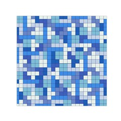 Tetris Camouflage Marine Small Satin Scarf (square) by jumpercat