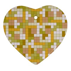 Tetris Camouflage Desert Ornament (heart) by jumpercat