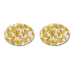 Tetris Camouflage Desert Cufflinks (oval) by jumpercat