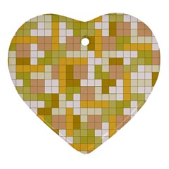 Tetris Camouflage Desert Heart Ornament (two Sides) by jumpercat