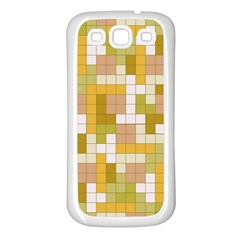 Tetris Camouflage Desert Samsung Galaxy S3 Back Case (white) by jumpercat