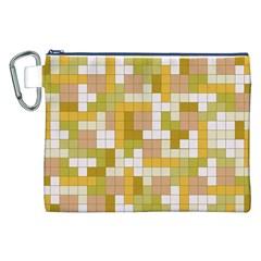 Tetris Camouflage Desert Canvas Cosmetic Bag (xxl) by jumpercat