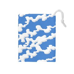 Cloud Lines Drawstring Pouches (medium)  by jumpercat