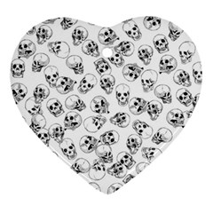 A Lot Of Skulls White Ornament (heart) by jumpercat