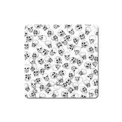 A Lot Of Skulls White Square Magnet by jumpercat