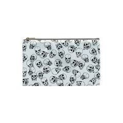 A Lot Of Skulls White Cosmetic Bag (small)  by jumpercat