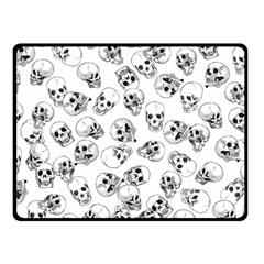 A Lot Of Skulls White Fleece Blanket (small) by jumpercat