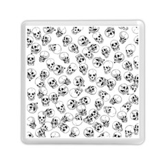 A Lot Of Skulls White Memory Card Reader (square)  by jumpercat