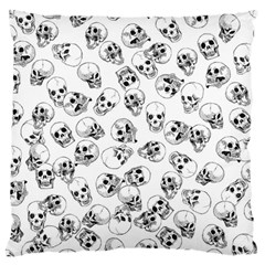 A Lot Of Skulls White Large Cushion Case (two Sides) by jumpercat