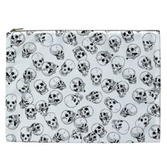A Lot Of Skulls White Cosmetic Bag (xxl)  by jumpercat