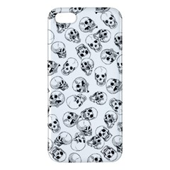 A Lot Of Skulls White Apple Iphone 5 Premium Hardshell Case by jumpercat