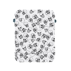 A Lot Of Skulls White Apple Ipad 2/3/4 Protective Soft Cases by jumpercat