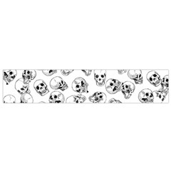 A Lot Of Skulls White Small Flano Scarf by jumpercat