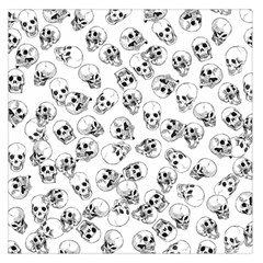 A Lot Of Skulls White Large Satin Scarf (square) by jumpercat