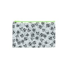 A Lot Of Skulls White Cosmetic Bag (xs) by jumpercat