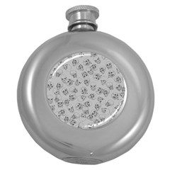 A Lot Of Skulls Grey Round Hip Flask (5 Oz) by jumpercat