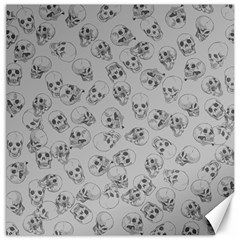 A Lot Of Skulls Grey Canvas 12  X 12   by jumpercat