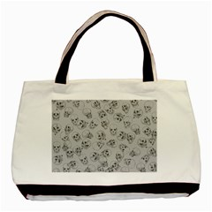 A Lot Of Skulls Grey Basic Tote Bag (two Sides) by jumpercat
