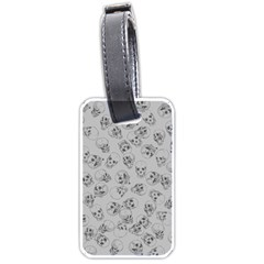 A Lot Of Skulls Grey Luggage Tags (one Side)  by jumpercat