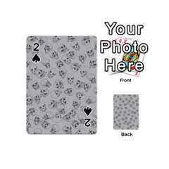 A Lot Of Skulls Grey Playing Cards 54 (mini)  by jumpercat