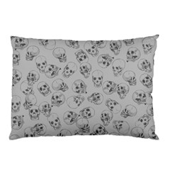 A Lot Of Skulls Grey Pillow Case (two Sides) by jumpercat