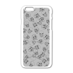 A Lot Of Skulls Grey Apple Iphone 6/6s White Enamel Case by jumpercat