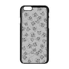 A Lot Of Skulls Grey Apple Iphone 6/6s Black Enamel Case by jumpercat