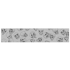 A Lot Of Skulls Grey Small Flano Scarf by jumpercat
