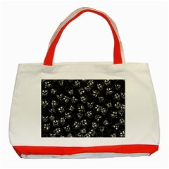 A Lot Of Skulls Black Classic Tote Bag (red) by jumpercat