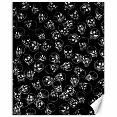A Lot Of Skulls Black Canvas 16  X 20   by jumpercat