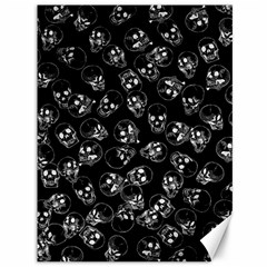 A Lot Of Skulls Black Canvas 36  X 48   by jumpercat