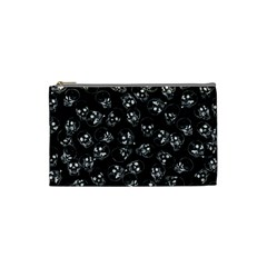 A Lot Of Skulls Black Cosmetic Bag (small)  by jumpercat