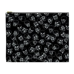 A Lot Of Skulls Black Cosmetic Bag (xl) by jumpercat
