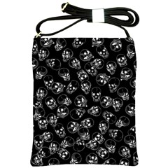 A Lot Of Skulls Black Shoulder Sling Bags by jumpercat