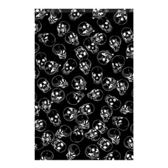 A Lot Of Skulls Black Shower Curtain 48  X 72  (small)  by jumpercat