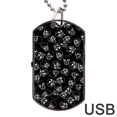 A Lot Of Skulls Black Dog Tag Usb Flash (one Side) by jumpercat