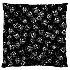 A Lot Of Skulls Black Large Cushion Case (two Sides) by jumpercat