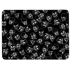 A Lot Of Skulls Black Samsung Galaxy Tab 7  P1000 Flip Case by jumpercat