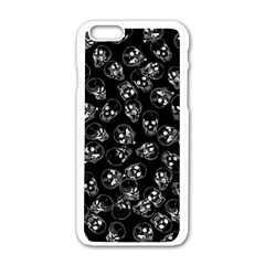 A Lot Of Skulls Black Apple Iphone 6/6s White Enamel Case by jumpercat
