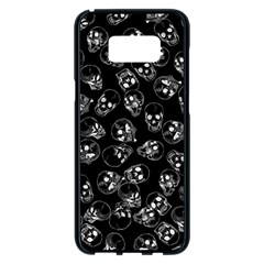 A Lot Of Skulls Black Samsung Galaxy S8 Plus Black Seamless Case by jumpercat
