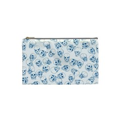 A Lot Of Skulls Blue Cosmetic Bag (small)  by jumpercat