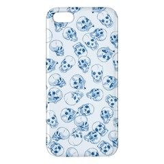 A Lot Of Skulls Blue Apple Iphone 5 Premium Hardshell Case by jumpercat