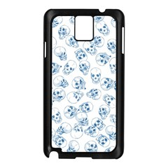 A Lot Of Skulls Blue Samsung Galaxy Note 3 N9005 Case (black) by jumpercat