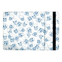 A Lot Of Skulls Blue Samsung Galaxy Tab Pro 10 1  Flip Case by jumpercat