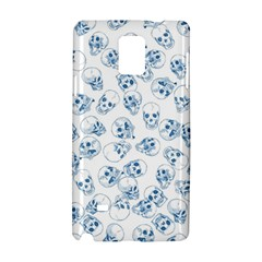 A Lot Of Skulls Blue Samsung Galaxy Note 4 Hardshell Case by jumpercat