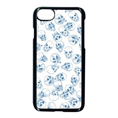A Lot Of Skulls Blue Apple Iphone 7 Seamless Case (black) by jumpercat